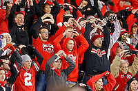 Fans sing Carmen Ohio after an NCAA football game between the Ohio State Buckeyes and the Minnesota Golden Gophers at Ohio Stadium on Saturday, November 7, 2015. (Columbus Dispatch photo by Fred Squillante)
