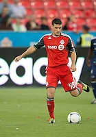 12 September 2012:  Toronto FC defender Darren O'Dea #48 in action during an MLS game between the Chicago Fire and Toronto FC at BMO Field in Toronto, Ontario..The Chicago Fire won 2-1..