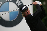 Miguel Angel Jimenez drives off on the 5th hole during the 3rd round of the BMW PGA Championship at Wentworth Club, Surrey, England 26th may 2007 (Photo by Eoin Clarke/NEWSFILE)