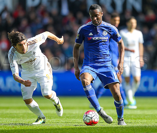 09.04.2016. Liberty Stadium, Swansea, Wales. Barclays Premier League. Swansea versus Chelsea. Chelsea's John Obi Mikel in action during the match