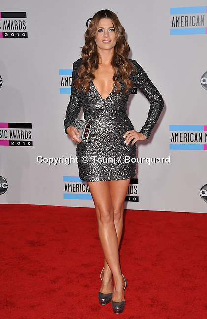 Stana Katic  - 2010 American Music Awards - AMA - At the Nokia Theatre in Los Angeles.