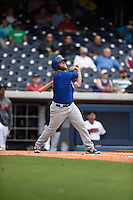 ***Temporary Unedited Reference File***Iowa Cubs first baseman Taylor Davis (13) during a game against the Nashville Sounds on May 4, 2016 at First Tennessee Park in Nashville, Tennessee.  Iowa defeated Nashville 8-4.  (Mike Janes/Four Seam Images)