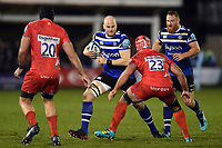 Matt Garvey of Bath Rugby in possession. Gallagher Premiership match, between Bath Rugby and Sale Sharks on December 2, 2018 at the Recreation Ground in Bath, England. Photo by: Patrick Khachfe / Onside Images