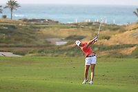 Nanna Koerstz Madsen (DEN) during the first round of the Fatima Bint Mubarak Ladies Open played at Saadiyat Beach Golf Club, Abu Dhabi, UAE. 10/01/2019<br /> Picture: Golffile | Phil Inglis<br /> <br /> All photo usage must carry mandatory copyright credit (© Golffile | Phil Inglis)