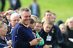 European Vice Captains, Darren Clarke and Sergio Garcia fool around on the 16th tee during Practice Day 3 of the The 2010 Ryder Cup at the Celtic Manor, Newport, Wales, 29th September 2010..(Picture Eoin Clarke/www.golffile.ie)