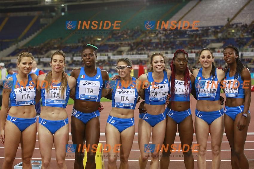 4x100m Relay Women ITA  <br /> Roma 02-06-2016 Stadio Olimpico.<br /> IAAF Diamond League 2016<br /> Atletica Legera <br /> Golden Gala Meeting - Track and Field Athletics Meeting<br /> Foto Cesare Purini / Insidefoto