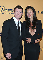 LOS ANGELES, CA - JUNE 11: Taylor Sheridan, Nicole Sheridan, at the premiere of Yellowstone at Paramount Studios in Los Angeles, California on June 11, 2018. <br /> CAP/MPI/FS<br /> &copy;FS/MPI/Capital Pictures