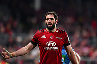 11th July 2020, Christchurch, New Zealand;  Sam Whitelock of the Crusaders during the Super Rugby Aotearoa, Crusaders versus Blues, at Orangetheory Stadium, Christchurch