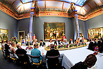 "FAREWELL GALA DINNER FOR QUEEN BEATRIX OF THE NETHERLANDSat the Rijksmuseum (with Rembrandt's The Night Watch painting as a backdrop) in Amsterdam, The Netherlands_April 29, 2013..The gala was attended by members of various Royal Families from around the world.Crown Prince Willem-Alexander and Crown Princess Maxima will be proclaimed King and Queen  of The Netherlands on the abdication of Queen Beatrix on 30th April 2013.Mandatory Credit Photos: ©Utrecht/NEWSPIX INTERNATIONAL..**ALL FEES PAYABLE TO: ""NEWSPIX INTERNATIONAL""**..PHOTO CREDIT MANDATORY!!: NEWSPIX INTERNATIONAL(Failure to credit will incur a surcharge of 100% of reproduction fees)..IMMEDIATE CONFIRMATION OF USAGE REQUIRED:.Newspix International, 31 Chinnery Hill, Bishop's Stortford, ENGLAND CM23 3PS.Tel:+441279 324672  ; Fax: +441279656877.Mobile:  0777568 1153.e-mail: info@newspixinternational.co.uk"
