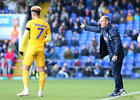 Preston North End manager Alex Neil shouts instructions to his team from the touchline<br /> <br /> Photographer David Shipman/CameraSport<br /> <br /> The EFL Sky Bet Championship - Ipswich Town v Preston North End - Saturday 3rd November 2018 - Portman Road - Ipswich<br /> <br /> World Copyright &copy; 2018 CameraSport. All rights reserved. 43 Linden Ave. Countesthorpe. Leicester. England. LE8 5PG - Tel: +44 (0) 116 277 4147 - admin@camerasport.com - www.camerasport.com