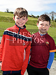 Cormac Callan and Cillian Boylan who took part in the St. Kevins charity relay run. Photo:Colin Bell/pressphotos.ie