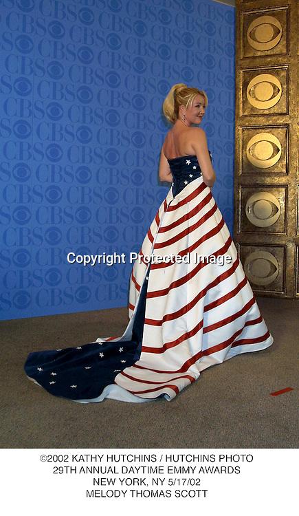 ©2002 KATHY HUTCHINS / HUTCHINS PHOTO.29TH ANNUAL DAYTIME EMMY AWARDS.NEW YORK, NY 5/17/02.MELODY THOMAS SCOTT