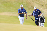 Lee Westwood (ENG) at the 1st green during Saturday's Round 3 of the 2018 Dubai Duty Free Irish Open, held at Ballyliffin Golf Club, Ireland. 7th July 2018.<br /> Picture: Eoin Clarke | Golffile<br /> <br /> <br /> All photos usage must carry mandatory copyright credit (&copy; Golffile | Eoin Clarke)