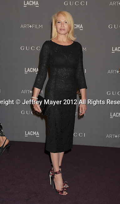 LOS ANGELES, CA - OCTOBER 27: Ellen Barkin arrives at LACMA Art + Film Gala at LACMA on October 27, 2012 in Los Angeles, California.