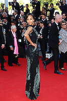 "Zoe Saldana attends the ""'Mr Turner'"" premiere - 67th Annual Cannes Film Festival - France"