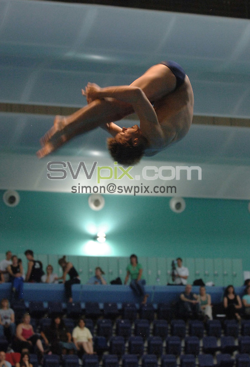 Picture by Chris Whiteoak/SWPIX.COM, Diving......ASA National Senior Diving Championships, 26/05/06..Copyright>>Simon Wilkinson>>07811267706..Ben Swain of Sheffield compeats in the mens 1m springboard preliminary
