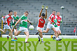 Donal O'Sullivan Kilcummin/Rathmore tries to block Thomas Moriarty Legion during the County Champship final in Fitzgerald Stadium last Thursday evening