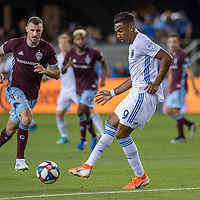 SAN JOSÉ CA - JULY 27: Danny Hoesen #9 during a Major League Soccer (MLS) match between the San Jose Earthquakes and the Colorado Rapids on July 27, 2019 at Avaya Stadium in San José, California.