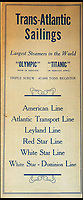 BNPS.co.uk (01202 558833)<br /> Pic: HAldridge/BNPS<br /> <br /> Transatlantic Sailing schedule for 1912 mentioning Largest Steamers in theWorld Olympic &amp; Titanic.<br /> <br /> Incredibly rare illustrations and photos of the opulent surroundings of the Titanic have come to light in two brochures which describe the doomed ship as 'practically unsinkable.'<br /> <br /> The colour drawings depict the plush accommodation and facilities that first and second class passengers enjoyed on the luxury liner.<br /> <br /> They offer rare glimpses of the promenade deck, reading room, swimming baths, smoking room, main staircase, the Turkish bath, state room and parlour suit accommodation, dining room and reception room.<br /> <br /> Alongside the images there is an equally scarce copy of the sailing schedule for the doomed ship, highlighting its 'lost' trans-Atlantic service.<br /> <br /> The itinerary shows the Titanic would have gone on to make four trips from Southampton to New York between April to July 1912 had it not sunk on its maiden voyage with the loss of 1,522 lives.<br /> <br /> The two brochures and sailing schedule have now been put up for sale 105 years after the tragedy. They have a pre-sale estimate of a combined &pound;20,000.