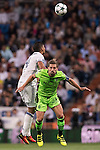 Adrien Silva of Sporting Portugal battles for the ball with Carlos Henrique Casemiro of Real Madrid during their 2016-17 UEFA Champions League match between Real Madrid vs Sporting Portugal at the Santiago Bernabeu Stadium on 14 September 2016 in Madrid, Spain. Photo by Diego Gonzalez Souto / Power Sport Images