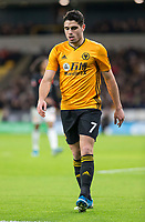 4th January 2020; Molineux Stadium, Wolverhampton, West Midlands, England; English FA Cup Football, Wolverhampton Wanderers versus Manchester United; Pedro Neto of Wolverhampton Wanderers moves forward for a corner kick  - Strictly Editorial Use Only. No use with unauthorized audio, video, data, fixture lists, club/league logos or 'live' services. Online in-match use limited to 120 images, no video emulation. No use in betting, games or single club/league/player publications