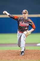 Bowling Green Falcons starting pitcher Brad Croy (4) delivers a pitch to the plate against the Michigan Wolverines on April 6, 2016 at Ray Fisher Stadium in Ann Arbor, Michigan. Michigan defeated Bowling Green 5-0. (Andrew Woolley/Four Seam Images)