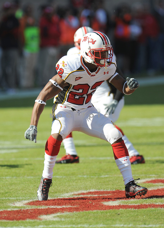 CAMERON CHISM, of the Maryland Terrapins, in action during the Terrapins game against the N.C. State Wolfpack on November 7, 2009 in Raleigh, NC. N.C. State won 38-31.