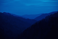 The Great Smoky Mountains in Tennessee photographed at twilight after a long distracting climb to the top of these peaks.....