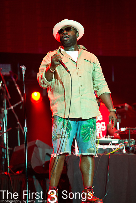 Black Thought (real name Tariq Trotter) of The Roots performs during the 2014 Essence Festival at the Mercedes-Benz Superdome in New Orleans, Louisiana.