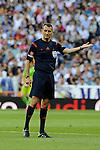 Referee Clos Gomez during 2014-15 La Liga match between Real Madrid and Valencia at Santiago Bernabeu stadium in Madrid, Spain. May 09, 2015. (ALTERPHOTOS/Luis Fernandez)