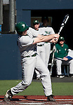 February 24, 2012:    Utah Valley Wolverines Billy Burgess bats against the Nevada Wolf Pack during  their NCAA baseball game played at Peccole Park on Friday afternoon in Reno, Nevada.