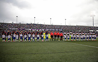 East Hartford, CT - Saturday July 01, 2017: USMNT and Ghana starting eleven's during an international friendly game between the men's national teams of the United States (USA) and Ghana (GHA) at Pratt & Whitney Stadium.