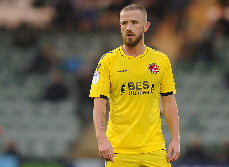 Fleetwood Town's Paddy Madden<br /> <br /> Photographer Kevin Barnes/CameraSport<br /> <br /> The EFL Sky Bet League One - Plymouth Argyle v Fleetwood Town - Saturday 24th November 2018 - Home Park - Plymouth<br /> <br /> World Copyright © 2018 CameraSport. All rights reserved. 43 Linden Ave. Countesthorpe. Leicester. England. LE8 5PG - Tel: +44 (0) 116 277 4147 - admin@camerasport.com - www.camerasport.com