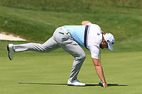Zander Lombard (RSA) on the 1st  green during Round 1 of the HNA Open De France at Le Golf National in Saint-Quentin-En-Yvelines, Paris, France on Thursday 28th June 2018.<br /> Picture:  Thos Caffrey | Golffile