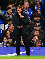 Antonio Conte, manager of Chelsea during the EPL - Premier League match between Chelsea and Brighton and Hove Albion at Stamford Bridge, London, England on 26 December 2017. Photo by PRiME Media Images.