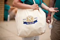 "A Kiwanis International tote bag is seen during ""Circle the City with Service,"" the Kiwanis Circle K International's 2015 Large Scale Service Project, on Wednesday, June 24, 2015, in Indianapolis. (Photo by James Brosher)"
