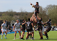 Jim Hamilton of Saracens in action during a lineout during the Aviva Premiership match between Saracens and Bath Rugby at Allianz Park, Hendon, England on 26 March 2017. Photo by Stewart  Wright  / PRiME Media Images.