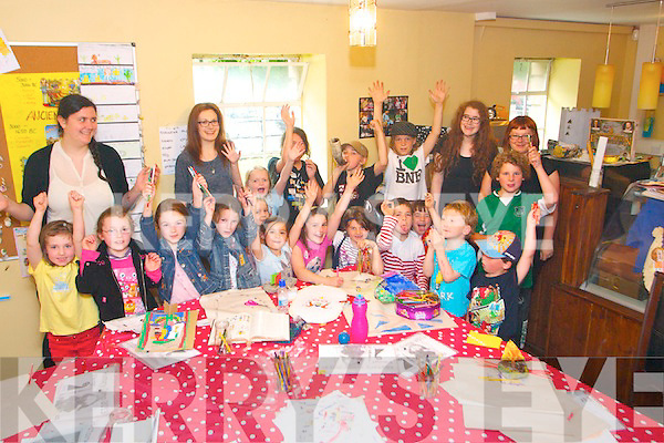 The Kerry County Museum Summer History Camp on Wednesday 24th. The camp was run by Claudia Kohler (Education, Community & Outreach Officer, Kerry County Museum) with volunteers: Claire Murray, Niamh Carton and Karen O'Connor Desmond.