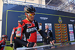 Olympic Champion Greg Van Avermaet (BEL) BMC Racing Team at sign on before the start of stage 2 of the 2017 Tirreno Adriatico running 229km from Camaiore to Pomarance, Italy. 9th March 2017.<br /> Picture: La Presse/Gian Mattia D'Alberto | Cyclefile<br /> <br /> <br /> All photos usage must carry mandatory copyright credit (&copy; Cyclefile | La Presse)