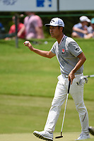 Kevin Na (USA) after sinking his putt on 8 during round 3 of the WGC FedEx St. Jude Invitational, TPC Southwind, Memphis, Tennessee, USA. 7/27/2019.<br /> Picture Ken Murray / Golffile.ie<br /> <br /> All photo usage must carry mandatory copyright credit (© Golffile | Ken Murray)
