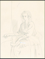 BNPS.co.uk (01202 558833)<br /> Pic: WebbsOfWilton/BNPS<br /> <br /> A pencil drawing of Augustus John's 'Young Girl', which is signed 'John' in the bottom left corner, it was sold at Christie's in June,1989 as an original Augustus John. <br /> <br /> Drawings and paintings by one of the world's most colourful and notorious art forgers, including a sketch that duped a top auctionhouse, are up for sale.<br /> <br /> Master forger Eric Hebborn fooled art dealers, galleries and auction houses worldwide with his work in the style of old masters, and many of his works which were sold as originals still hang in museums and galleries.<br /> <br /> Hugely talented Hebborn could mimic the style's of many of the world's most famous artist's, and the auction contains works 'After' Michelangelo, Rembrandt, Claude, Augustus John and Bandinelli.<br /> <br /> His paintings are being auctioned by Webbs of Wilton in Wiltshire on Wednesday, as well as manuscripts and books on the art of forging.