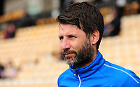 Lincoln City manager Danny Cowley during the pre-match warm-up<br /> <br /> Photographer Andrew Vaughan/CameraSport<br /> <br /> The EFL Sky Bet League Two - Port Vale v Lincoln City - Saturday 14th April 2018 - Vale Park - Burslem<br /> <br /> World Copyright &copy; 2018 CameraSport. All rights reserved. 43 Linden Ave. Countesthorpe. Leicester. England. LE8 5PG - Tel: +44 (0) 116 277 4147 - admin@camerasport.com - www.camerasport.com