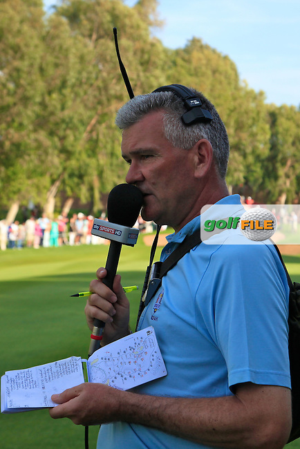 Tim Barter of Sky Sports commentating during the final round of the 40th Trophee Hassan II played at the Golf du Palais Royal d'Agadir, Agadir, Morocco 28 - 31 March 2013. (Picture Credit / Phil Inglis) www.golffile.ie