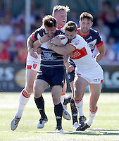 William Barthau in action for London during the Super 8 Qualifying game between London Broncos and Hull KR at Ealing Trailfinders, Ealing, on Sun Sept 11, 2016