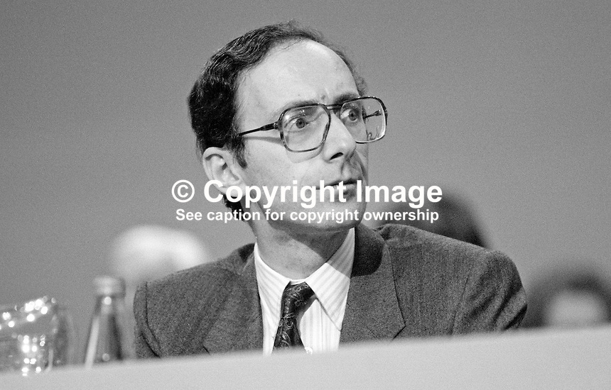 Malcolm Rifkind, MP, Conservative Party, UK, junior minister, Foreign Office, on platform at 1984 annual conference, Brighton. 19840155MR2.<br /> <br /> Copyright Image from Victor Patterson, 54 Dorchester Park, Belfast, UK, BT9 6RJ<br /> <br /> t1: +44 28 9066 1296 (from Rep of Ireland 048 9066 1296)<br /> t2: +44 28 9002 2446 (from Rep of Ireland 048 9002 2446)<br /> m: +44 7802 353836<br /> <br /> e1: victorpatterson@me.com<br /> e2: victorpatterson@gmail.com<br /> <br /> The use of any of my copyright images is subject to my Terms &amp; Conditions. It is IMPORTANT that you familiarise yourself with them. They are available at my website, victorpatterson.com.<br /> <br /> None of my copyright images may be used on the Internet unless they are visibly watermarked, i.e. &copy; Victor Patterson within the body of the image. My metadata, denoting my copyright must NOT be deleted. <br /> <br /> Web use is extra at currently recommended NUJ rates. Maximum permitted web size is<br />  400kb. <br /> <br /> Images must not be passed on to a third party - they are for the use of the authorised recipient only.