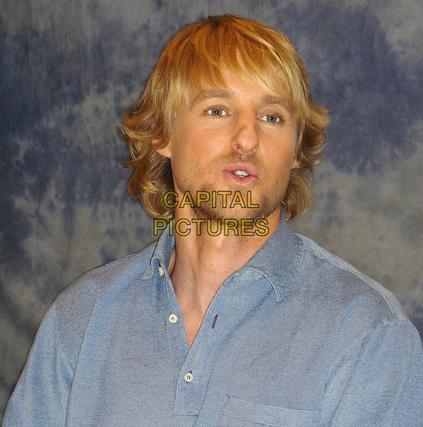 "OWEN WILSON.Press conference for ""You, Me & Dupree"" at the Casa Del Mar Hotel, Santa Monica, USA..June 23rd, 2006.Ref: AW.headshot portrait stubble facial hair.www.capitalpictures.com.sales@capitalpictures.com.© Capital Pictures."