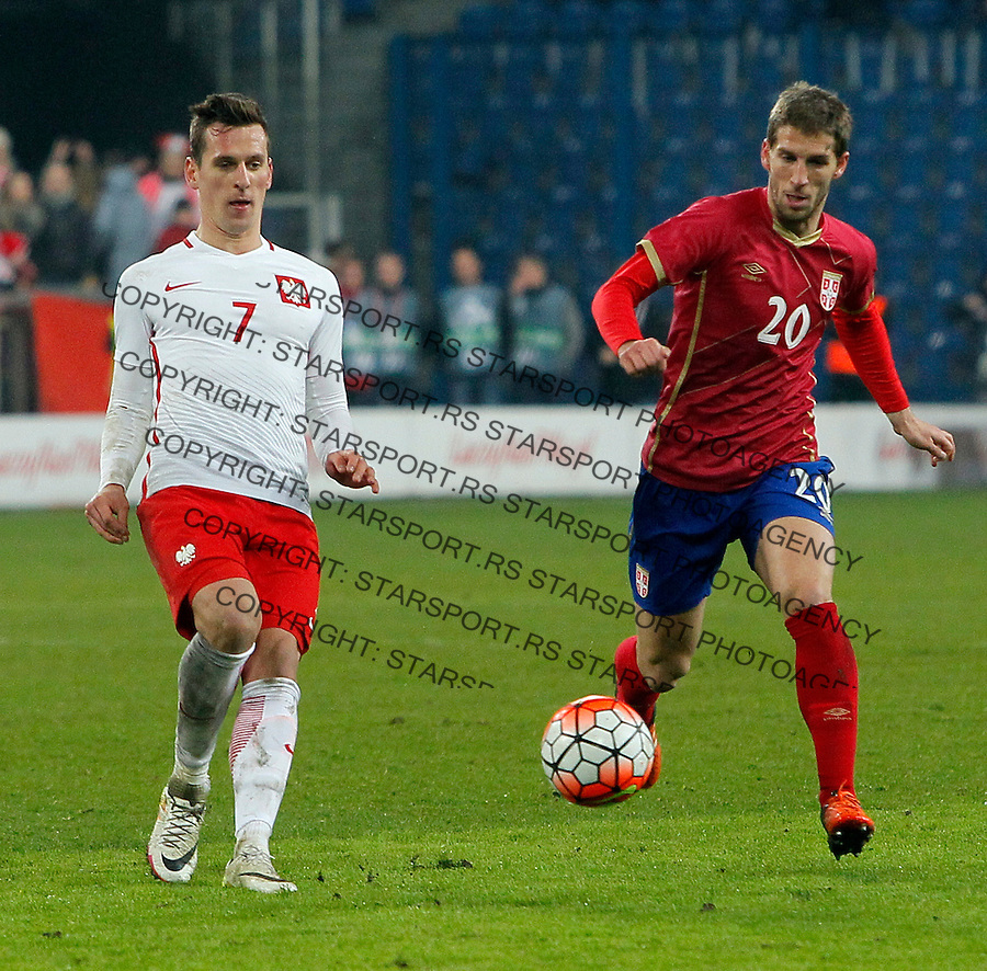 Darko Brasanac Poljska - Srbija prijateljska, Poland - Serbia friendly football match, March 23. 2016. Poznan  (credit image & photo: Pedja Milosavljevic / STARSPORT)