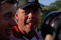September 24th, 2006. European  Ryder Cup team player Darren Clarke after his team won the singles final session of the last day of the 2006 Ryder Cup at the K Club in Straffan,. County Kildare in the Republic of Ireland...Photo: Eoin Clarke/ Newsfile..