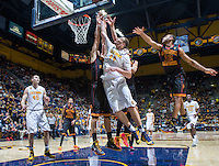California's Kameron Rooks shoots for the basket during a game against USC at Haas Pavilion in Berkeley, California on February 23th, 2014. California defeated USC 77 - 64