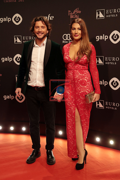 63 Premios Ondas.<br /> Photocall-Gala entrega de Premios.<br /> Manuel Carrasco &amp; Almudena Navalon.